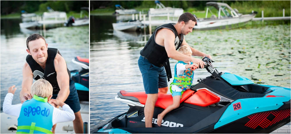casual lakeside family photography