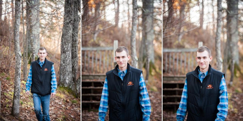 woodsy senior session