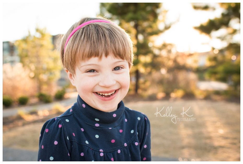 Child's fall portrait with backlighting | Kelley K Photography - Smyrna