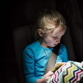 Girl Reading in Car | Kelley K Photography