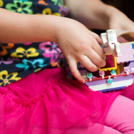 Girl Playing Legos | Kelley K Photography