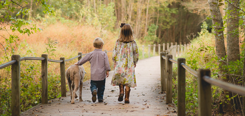 Boy and Girl with Dog | Kelley K Photography