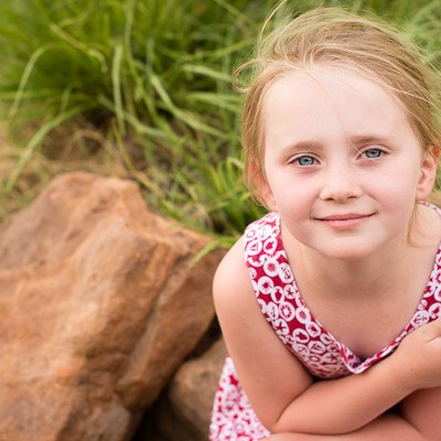 Young girl on rock | Kelley K Photography