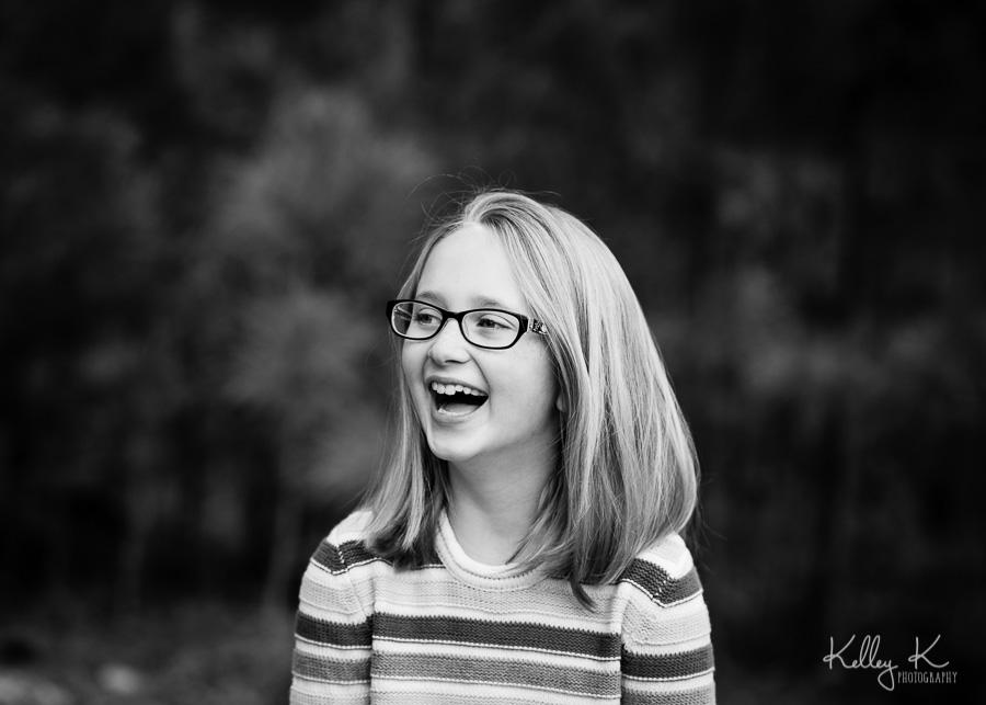 Girl-laughing-black-white-KelleyKPhotography-SmyrnaGA