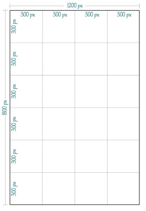 4x6 print grid