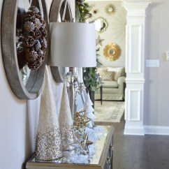 Christmas Decorating Ideas For Sofa Table Fufsack Black Sleeper Lounge Chair 2015 Home Tour Kelley Nan