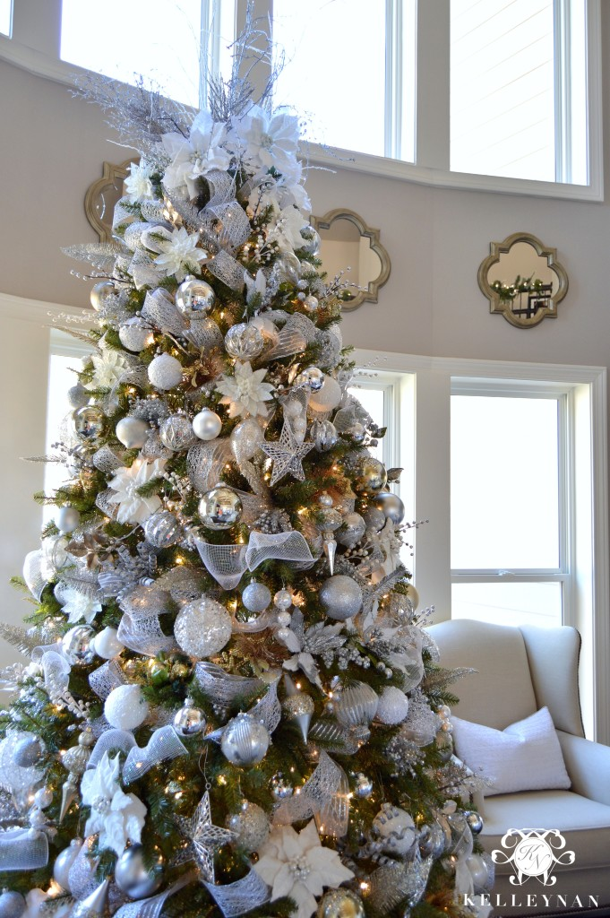 elegant christmas living room decor rooms with dark brown sofas 2015 home tour kelley nan 5