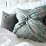 Diy No Sew Blanket Scarf Christmas Pillow Tutorial Kelley Nan