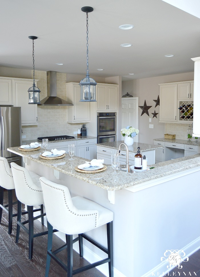 One Room Spring Tour Spring Styled Kitchen and Baby Blue