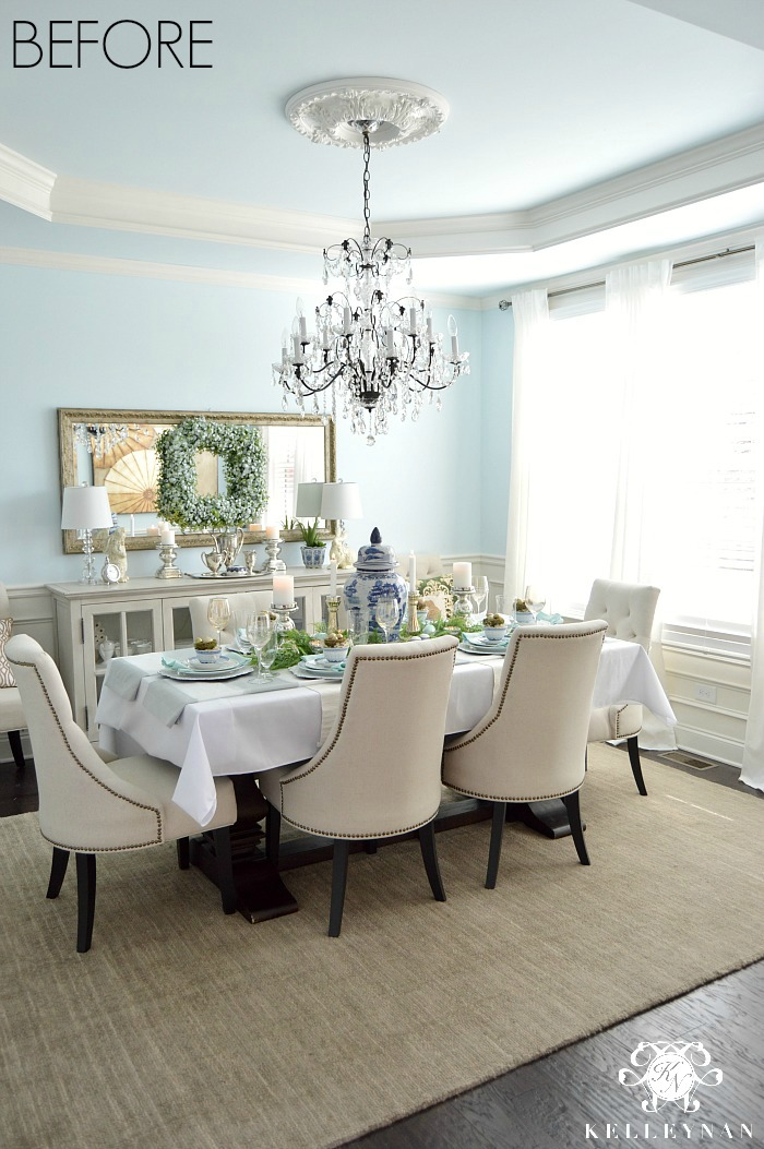 Dining Room Update  Vertical Vs Horizontal Buffet Mirror