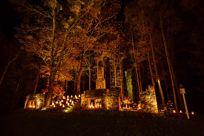 Fall Mountains In The Sun Wallpaper Decorating Tips For A Night Time Fall Wedding Kelley Nan