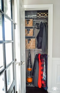 Organized Foyer Coat Closet- Before and After Makeover ...