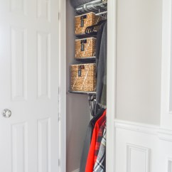 Costco Kitchen Bistro Organized Foyer Coat Closet- Before And After Makeover ...