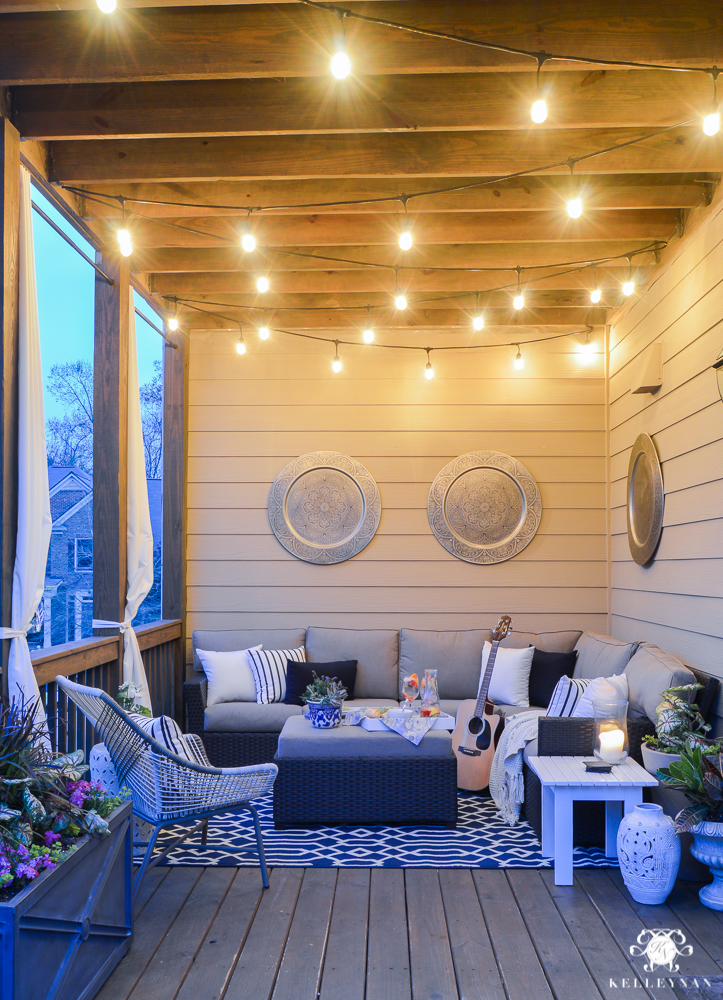 A Porch Makeover and a Relaxing Date Night on the Deck  Kelley Nan