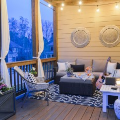 Stool Chair Costco Swing Cover A Porch Makeover And Relaxing Date Night On The Deck - Kelley Nan