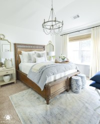 One Room Challenge- Classic Blue and White Guest Bedroom ...