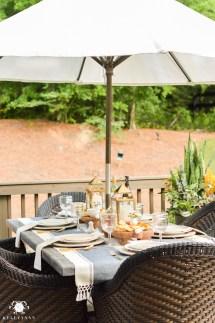 Outdoor Patio Table Centerpiece Ideas