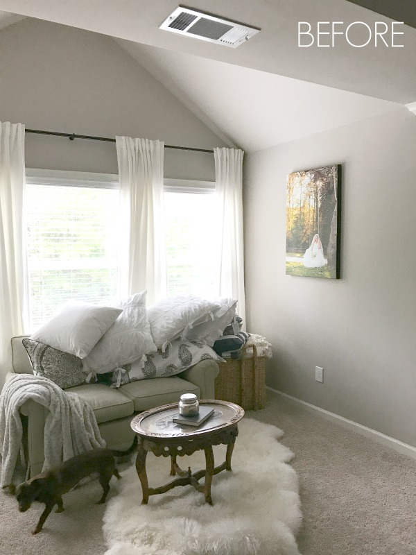 one room challenge- week 4: master bedroom sitting area progress