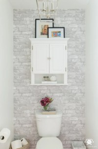 Toilet Room Makeover Reveal and Clever Bathroom Storage ...
