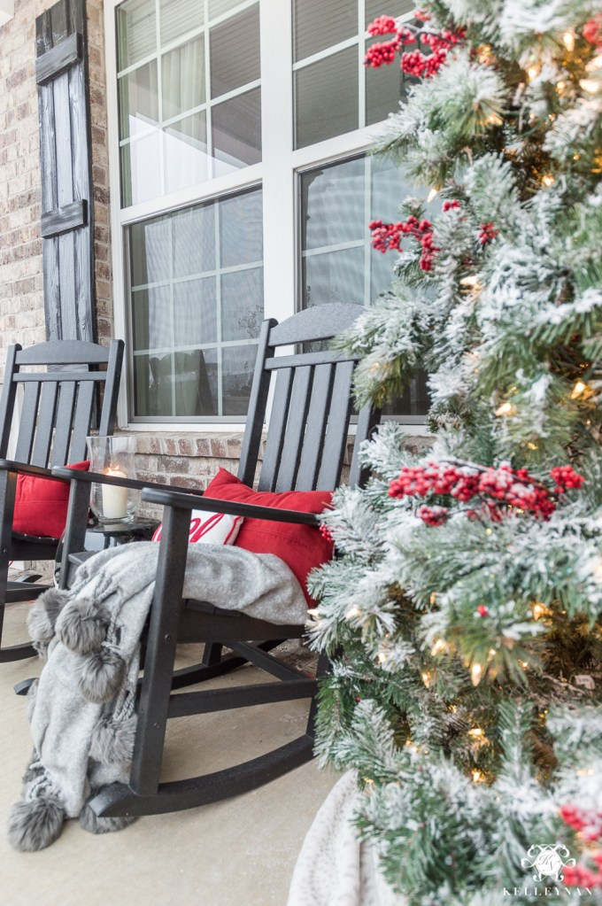 classic christmas decor for a traditional front porch kelley nan - Craftsman Christmas Classic