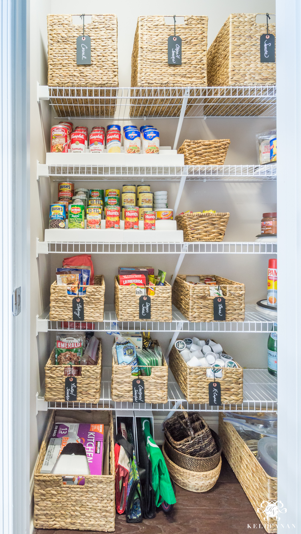 kitchen pantry organization ideas cherry wood cabinets nine to organize a small with wire shelving kelley nan organized before and after for tiny closets