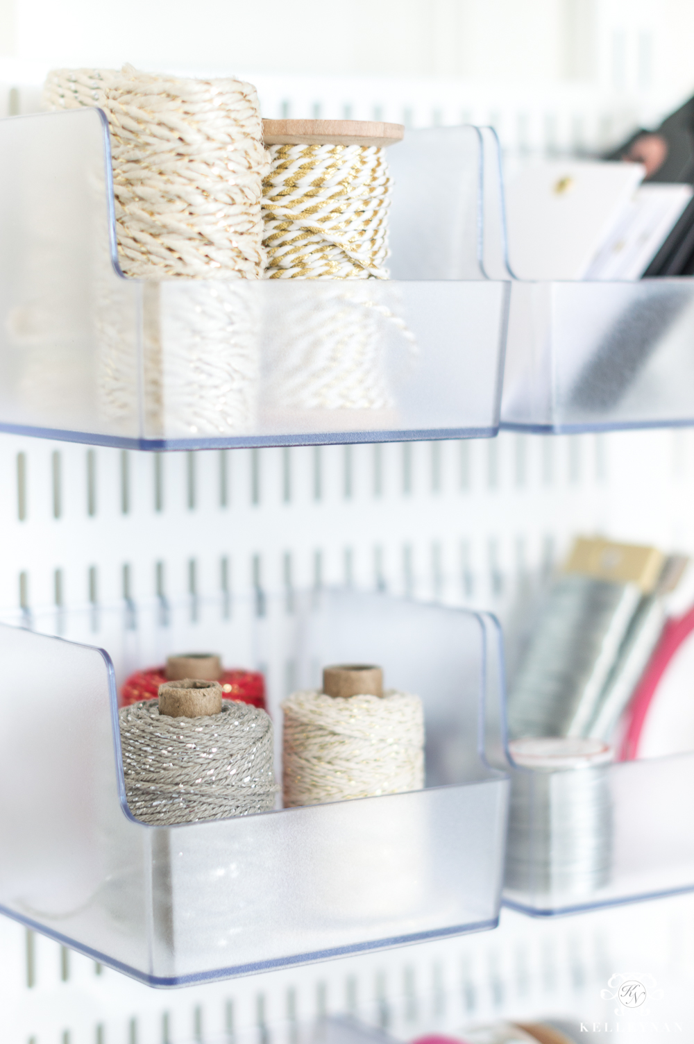 Gift Wrap Organization And Throw Pillow Storage Solutions Behind My Office Closet Door Kelley Nan