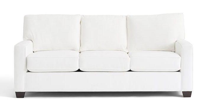 buchanan sofa with chaise retro set pottery barn comparison cameron vs pearce pb square arm