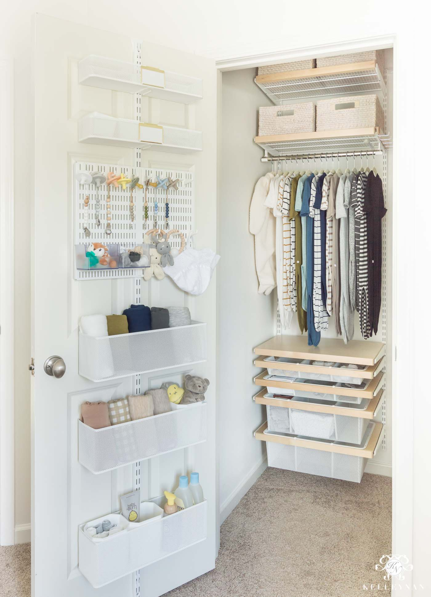 The Nursery Closet Planned And Organized To The Max