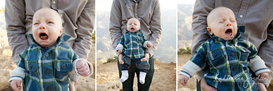 Baby Crying, Grand Canyon Portrait Photography