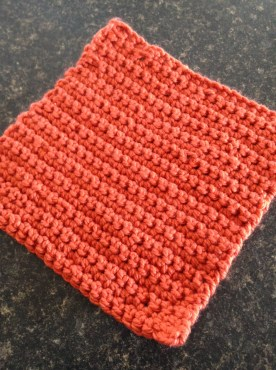 My first crochet project - a dish cloth!