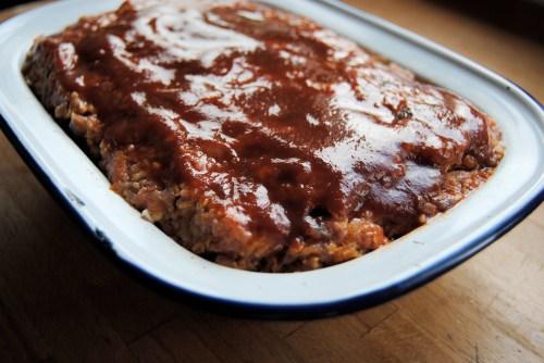 uncooked turkey meatloaf in pan