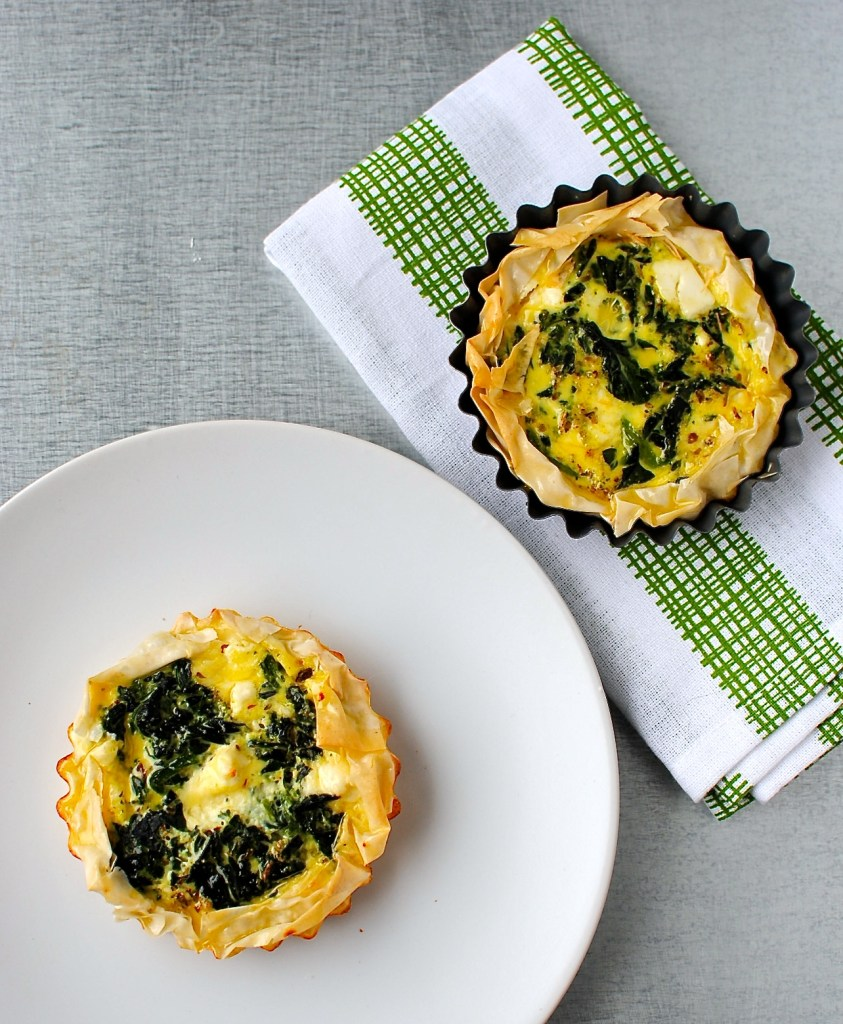 courgette-spinach-phyllo-tartlets by food to glow