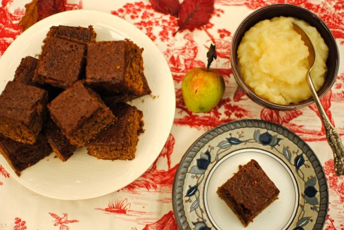 parkin and apple compote
