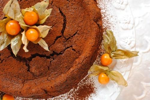 chocolate chestnut truffle cake