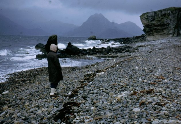 Elgol Beach in the rain -.ukcourtesy geograph.org