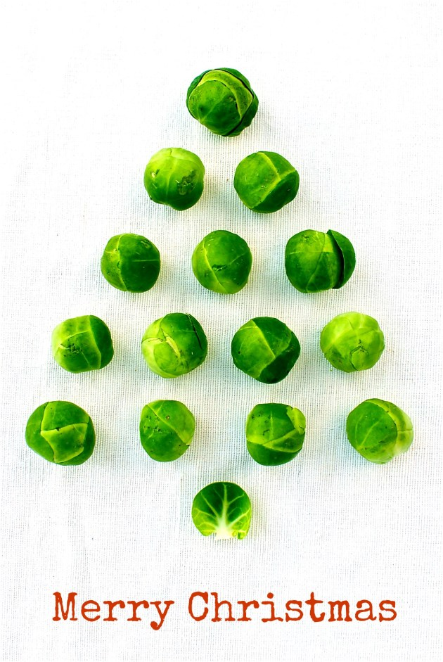 brussels sprouts christmas tree image