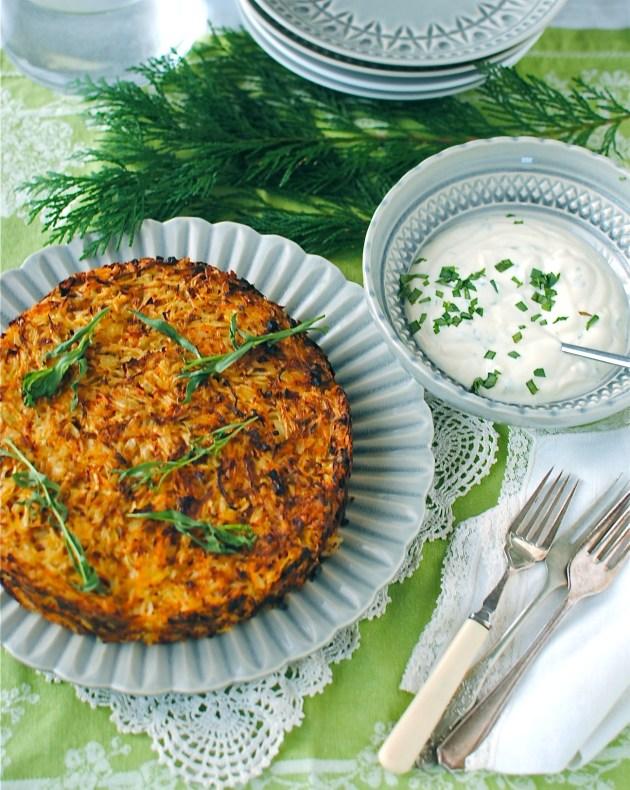 celeriac-and-carrot-rosti-cake