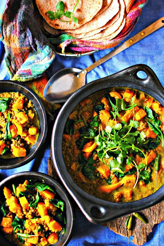 butternut squash, lentil and lemongrass curry