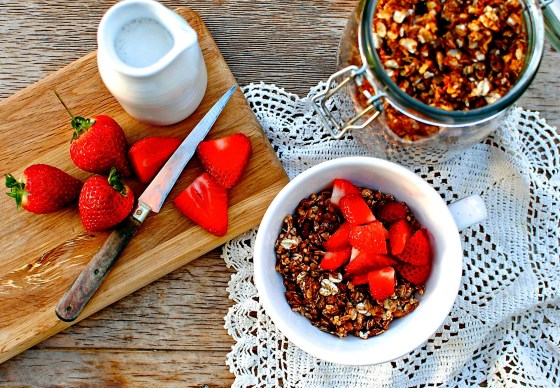 slow-baked sunflower butter granola