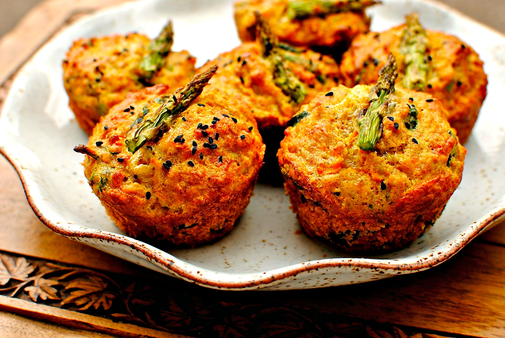 Sunny Spring Vegetable Breakfast Muffins Food To Glow