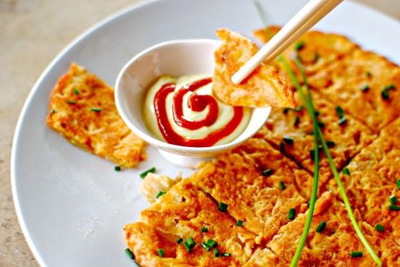 kimchi pancakes