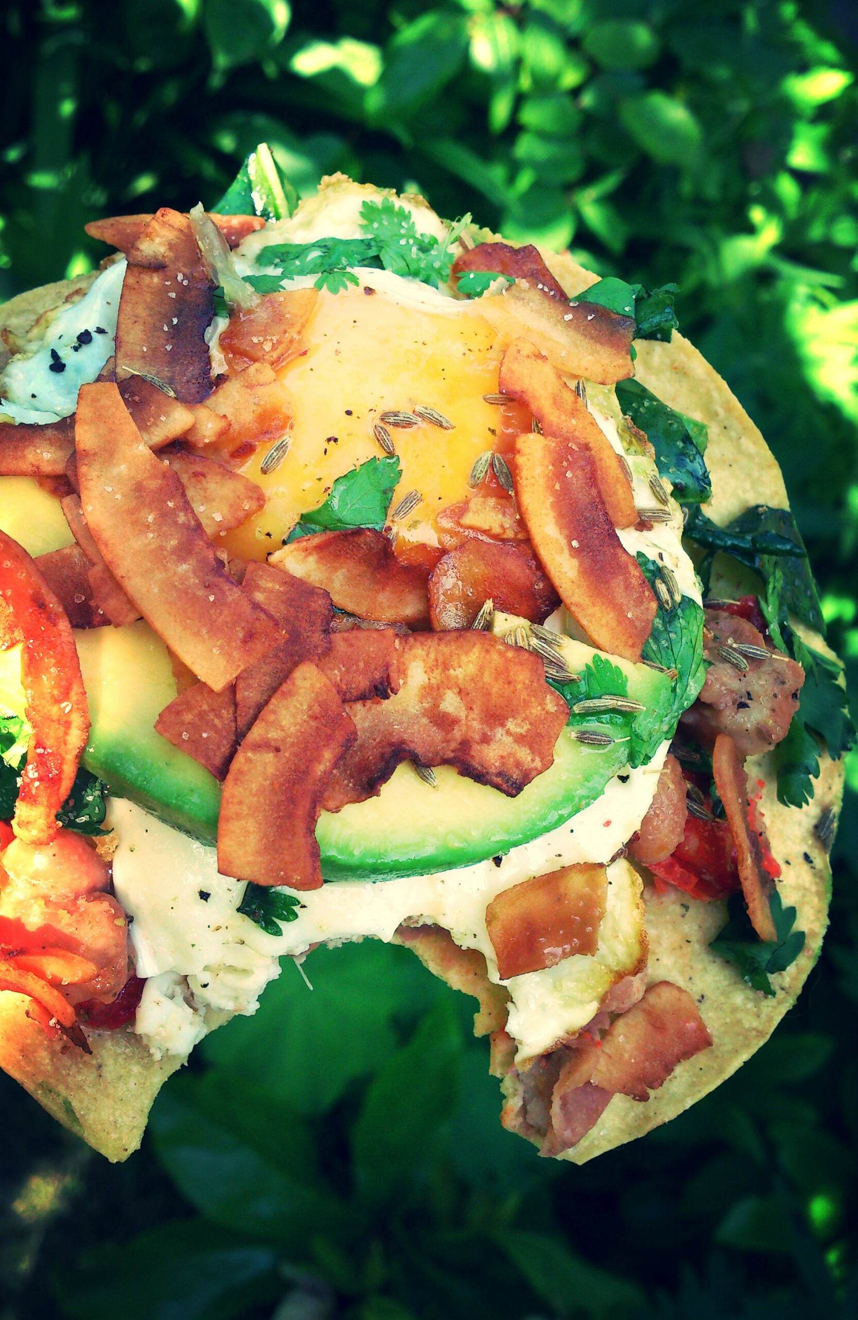 Greens And Beans Breakfast Tostados