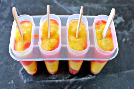 all-fruit ice lollies by kellie's food to glow