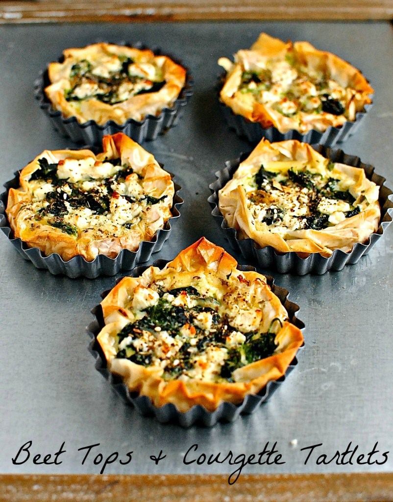 beet-tops-or-spinach-and-courgette-tartlets by food to glow