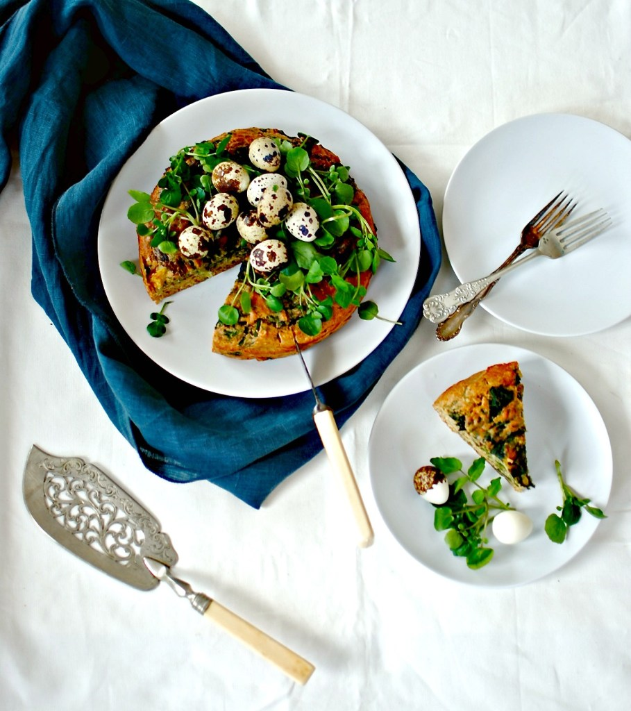 savory-spinach-wild-garlic-porcini-cake food to glow