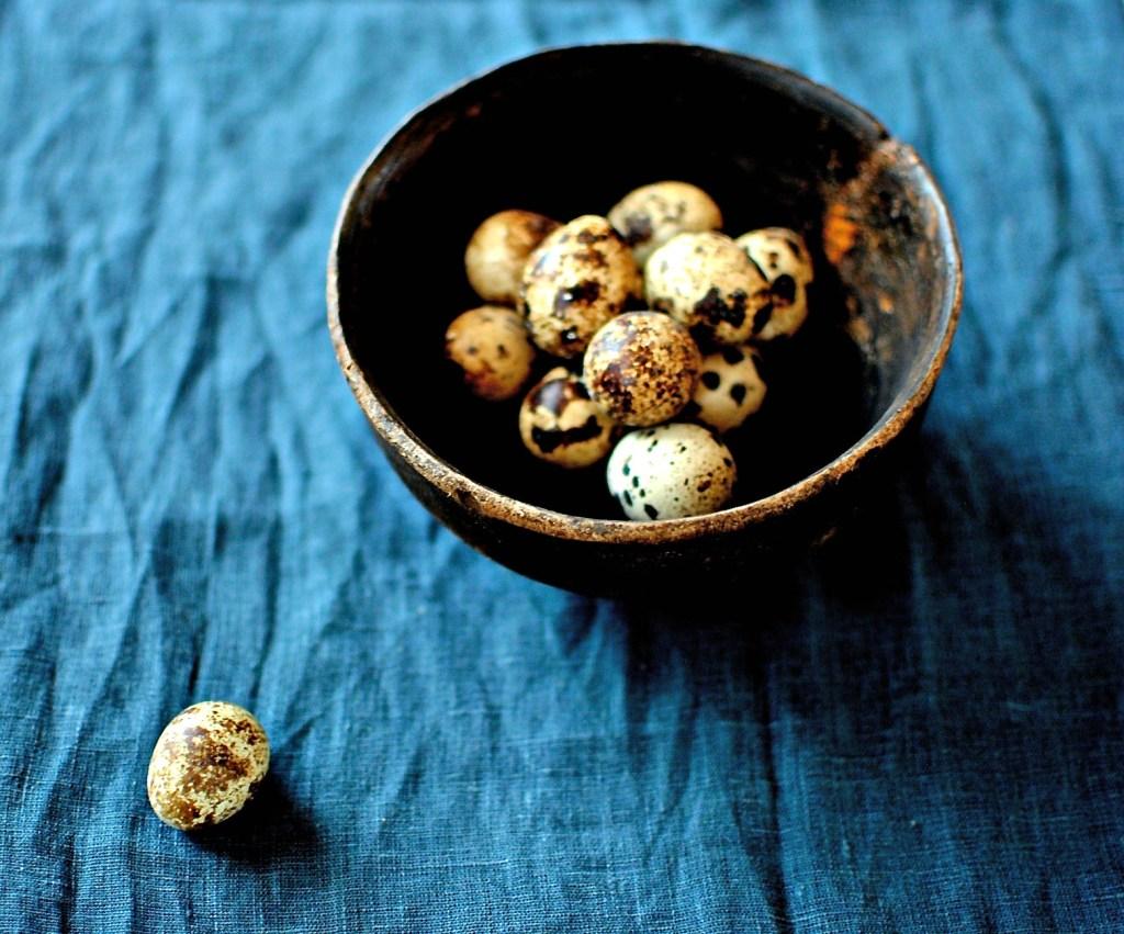 quails-eggs food to glow