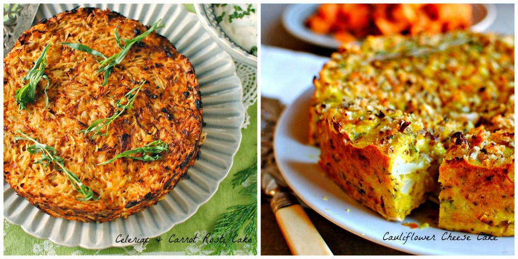 vegetable-cake-collage food to glow