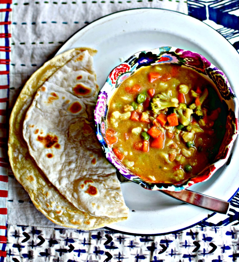 spicy-peanut-butter-soup-and-roti by food to glow