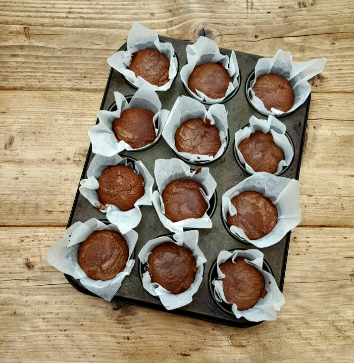 kladdkaka muffins gluten free Swedish chocolate cake