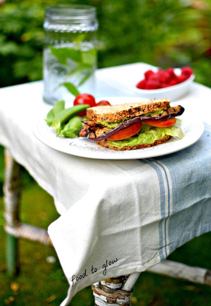 eggplant bacon bot // food to glow #veganblt